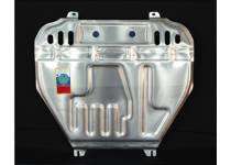 Защита картера двигателя и КПП алюминий 4 мм для Mitsubishi ASX (2010-2012)