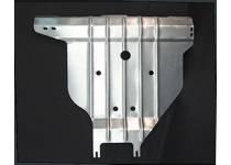 Защита заднего бампера алюминий 4 мм для Nissan X-Trail (2011-2014)