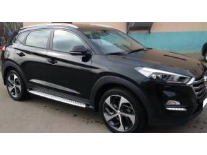 Боковые пороги OEM Style для Hyundai Tucson (2015-)