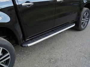 Пороги алюминиевые с пластиковой накладкой 1920 мм на Mercedes-Benz X (2017-)