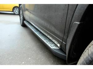 Боковые пороги OEM STYLE на Toyota Highlander (2014-)