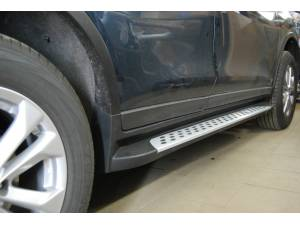 Боковые пороги OEM STYLE на Nissan X-Trail (2015-)