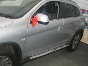 Боковые пороги OEM STYLE на Peugeot 4008 (2012-)