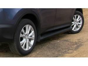 Боковые пороги OEM STYLE на Toyota Rav4 (2013-2015)