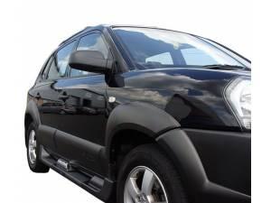 Боковые пороги OEM STYLE на Hyundai Tucson (2004-2009)