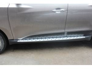 Боковые пороги BMW STYLE на Hyundai IX35 (2009-2015)