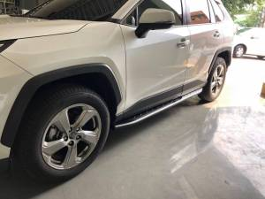 Боковые пороги OEM STYLE на Toyota Rav4 (2019-)