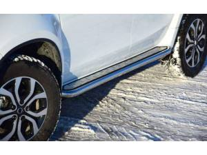 "Пороги с алюм. площадкой ""Эстонец"" d51 на Renault Duster"