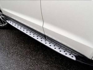 Боковые пороги BMW Style на Hyundai Santa Fe (2013-)