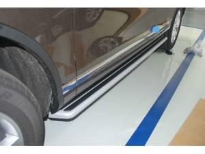 Боковые пороги OEM STYLE на Volkswagen Touareg (2010-2013)