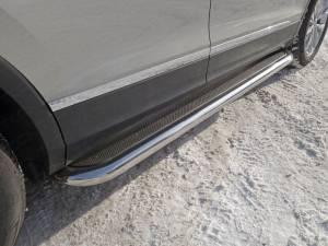 Пороги с площадкой (нерж. лист) 60,3 мм для Volkswagen Tiguan (2017-)