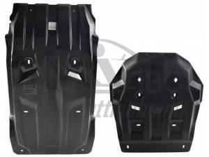 Комплект защит картера, КПП, разд. коробки и радиатора 10 мм, композит для Fiat Fullback (2016-)