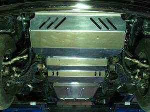 Комплект защит радиатора, картера, КПП, раздатки алюминий 4мм для Mitsubishi L200 long 2014