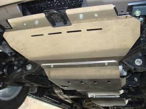 Комплект защит радиатора, картера, КПП, раздатки алюминий 4 мм для Nissan Patrol (2014-)