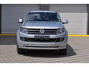 Защита переднего бампера двойная d70/40 на Volkswagen Amarok (2010-2015)