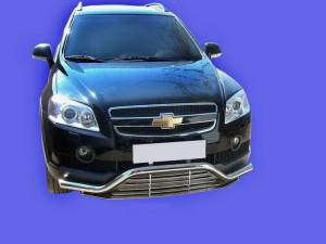 Защита переднего бампера без декоративной решётки d60 на Chevrolet Captiva (2006-2012)