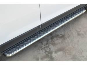 Пороги труба с листом d42 на Chevrolet Captiva (2014-)