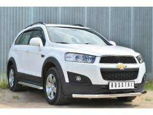 Защита переднего бампера d63 на Chevrolet Captiva (2014-)
