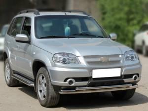 Дуга передняя двойная d53/43 на Chevrolet Niva (2009-)