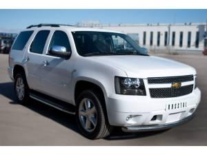 Защита переднего бампера d76 на Chevrolet Tahoe (2012-2015)
