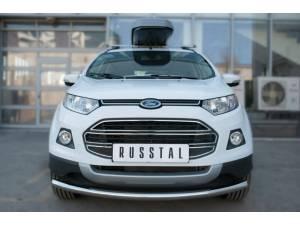 Защита переднего бампера d63 на Ford Ecosport (2014-)