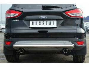 Защита заднего бампера d63 на Ford Kuga (2013-2015)