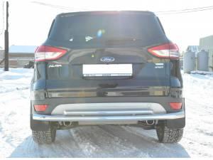 Защита заднего бампера двойная d60/42 на Ford Kuga (2013-2015)