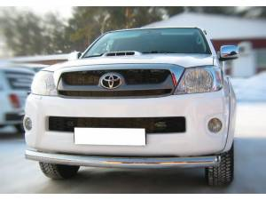 Защита переднего бампера d76 на Toyota Hilux (2011-2014)