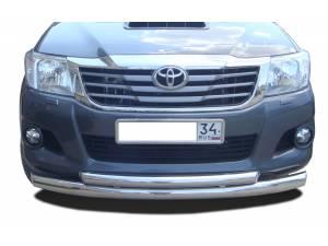 Защита переднего бампера d76/60 на Toyota Hilux (2011-2014)