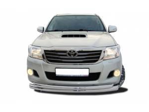 Защита переднего бампера d76/60 (увеличенная) на Toyota Hilux (2011-2014)