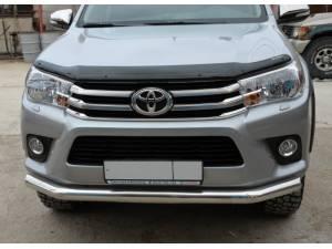 Защита переднего бампера d76 на Toyota Hilux Revo (2015-2018)