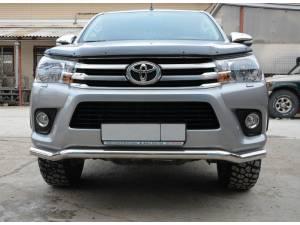 Защита переднего бампера d76 (волна) на Toyota Hilux Revo (2015-2018)