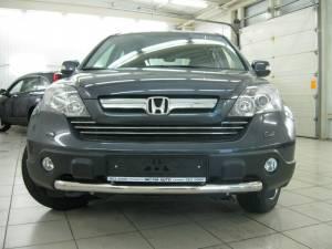 Защита переднего бампера d60 на Honda CRV (2007-2010)