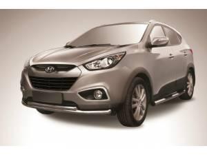 Защита переднего бампера радиус d57/42 на Hyundai IX35 (2009-2015)