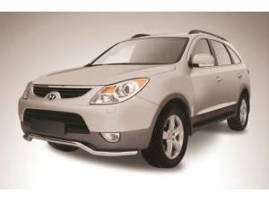 """Защита переднего бампера """"волна"""" d57 на Hyundai IX55"""