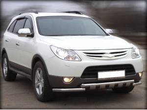 Защита переднего бампера d60 на Hyundai IX55