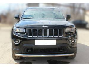 Защита переднего бампера d60 на Jeep Grand Cherokee (2014-)