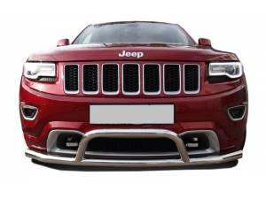 Защита переднего бампера с кенгурином d76 на Jeep Grand Cherokee (2014-)