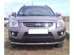 Защита переднего бампера d60 на Kia Sportage (2008-2010)
