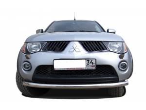 Защита переднего бампера d60 на Mitsubishi L200 (2006-2013)