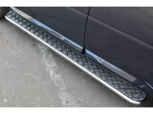 Пороги труба с листом d42 на Land Rover Freelander 2 (2013-)