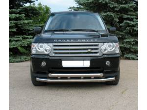 Защита переднего бампера двойная d76/76 на Land Rover Range Rover (2005-2012)