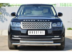 Защита переднего бампера двойная d76/63 на Land Rover Range Rover (2012-)