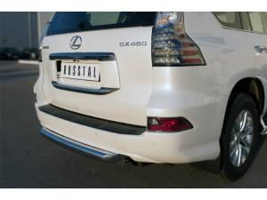Центральная защита заднего бампера d76 на Lexus GX460 (2014-)