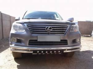Защита переднего бампера d60 на Lexus LX570 (2007-2012)