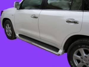 Защита штатных порогов d53 на Lexus LX570 (2007-2012)