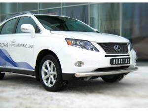 Защита переднего бампера d76 на Lexus RX 270/350/450h (2010-2012)
