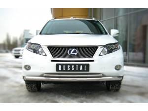 Защита переднего бампера двойная d76/42 на Lexus RX 270/350/450h (2010-2012)