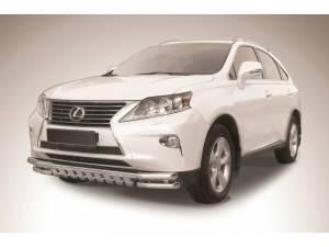 Защита переднего бампера двойная с защитой картера d57/57 на Lexus RX 270/350/450h (2013-)