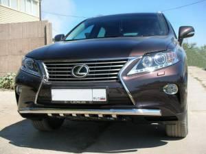 Защита переднего бампера d60 на Lexus RX 270/350/450h (2013-)